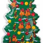 Kerstboom wandversiering 100 cm
