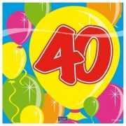 Leeftijd servetten 40 jaar 25x25 cm