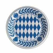Blauw met witte bordjes