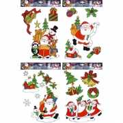 Kerstmis raamsticker set 12