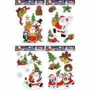 Kerstmis raamsticker set 12