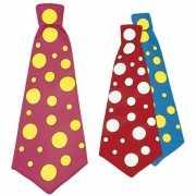 Gekleurde mega stropdas met stippen