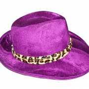 Paarse gangster hoeden heren