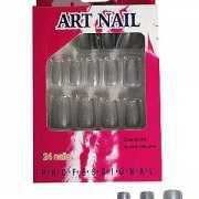 Glitter nagels in de kleur zilver