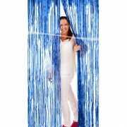 Blauw linten gordijn 2 mtr