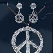 Ketting en oorbellen peace