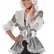 Zilveren piraten blouse voor dames