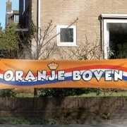 Oranje Boven supporters spandoek