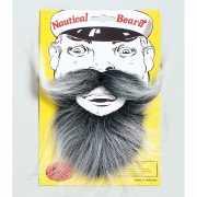 Grijzende baard met snor