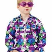 Kinder seventies blouse met bloemen