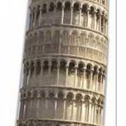 Foto bord van de toren van Pisa