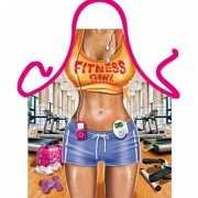 Kado artikelen schort Fitness vrouw