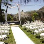 Witte versiering lopers 1 meter breed