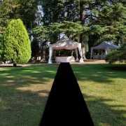 Zwarte versiering lopers 1 meter breed