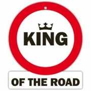 Auto stopbord King of the road