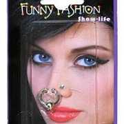 Twee piercings zilverkleurig