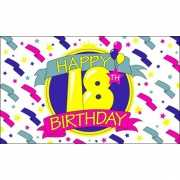 18 jaar Happy Birthday vlag