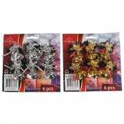 Kerstbellen hangers goud 6 stuks