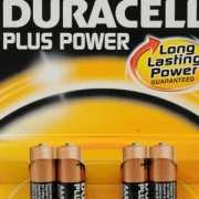 4 Pak Duracell plus power batterij AAA