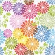 20 servetten met bloemen