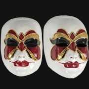 Venetiaanse maskers met vlinder