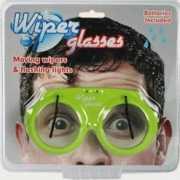 Bril met ruitenwissertjes en licht