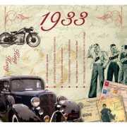 Hits uit 1933 verjaardagskaart