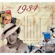 Hits uit 1934 verjaardagskaart