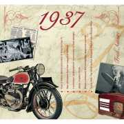 Hits uit 1937 verjaardagskaart