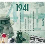 Hits uit 1941 verjaardagskaart