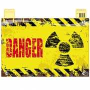 Geel deurbordje Danger