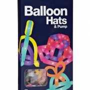 Vouw ballonnen hoeden 24 stuks