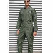 Legergroene piloten overall