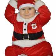 Baby kerstman kostuum 12  tot 24 maanden