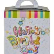 Cadeau verpakking  happy birthday van karton
