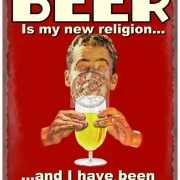 Muurdecoraties nieuwe religie