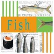 Servetten met vis thema 33 cm