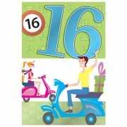 Vrolijke verjaardagskaart 16 jaar