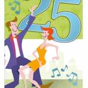 Vrolijke groene verjaardagskaart 25 jaar