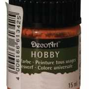 Hobby materialen verf oranje 15 ml