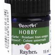 Hobby materialen verf blauw 15 ml