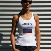 Tanktop met Rusische vlag print voor dames