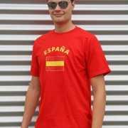 Rood t shirt met Spanjeprint