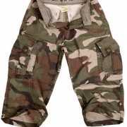 Driekwart camouflage broek voor kids