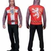 Heren shirt met 3D ridder opdruk