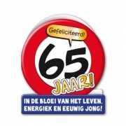 65ste verjaardag stopbord wenskaart