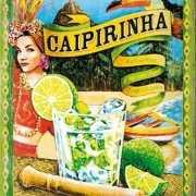 Cocktail muurplaatje Caipirinha 15 x 20 cm