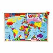Puzzel met landen vlaggen 30 x 45 cm
