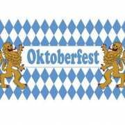 Blauw met witt oktoberfestvlag 90x150 cm