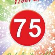 Versiering 75 jaar poster